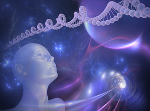 DNA-Abstract Futuristic Background